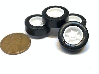 4 Sets Rubber Small Toy 17mm Diameter 2mm Shaft Car Robot Tire Wheel Dc 4pcs C25