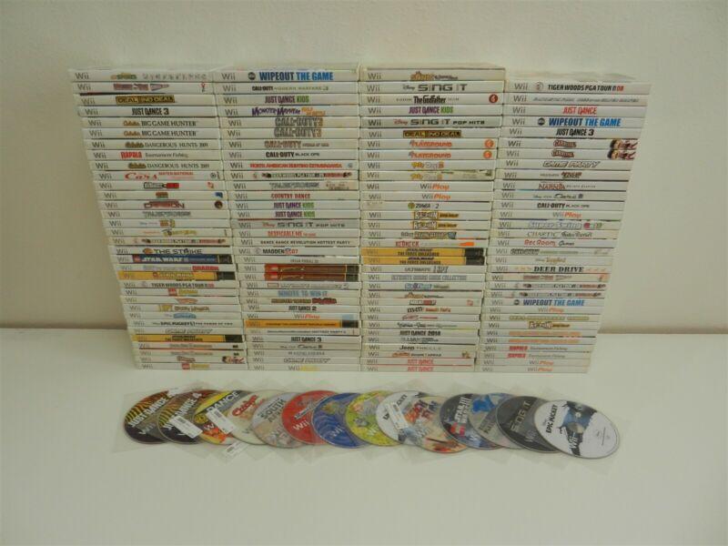 Lot of 145 Nintendo Wii Games - Disneys Universe, Hot Wheels: Beat That