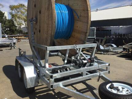 CABLE DRUM ROLL TRAILER ADJUSTABLE ARMS