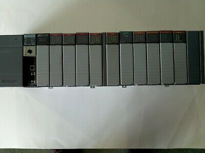 Allen-bradley Slc 500 - 13 Slot Rack With 12 Modules Including Slc 504 Cpu