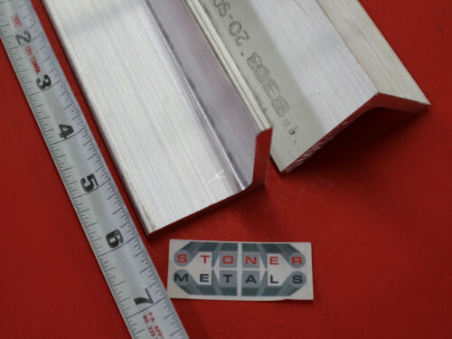 """2 Pieces 2""""x 2""""x 1/4"""" ALUMINUM 6061 ANGLE BAR 6"""" long T6 Extruded Mill Stock"""