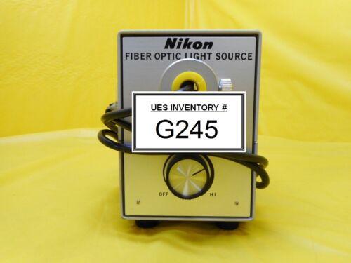 Nikon Fiber Optics Light Source Used Working