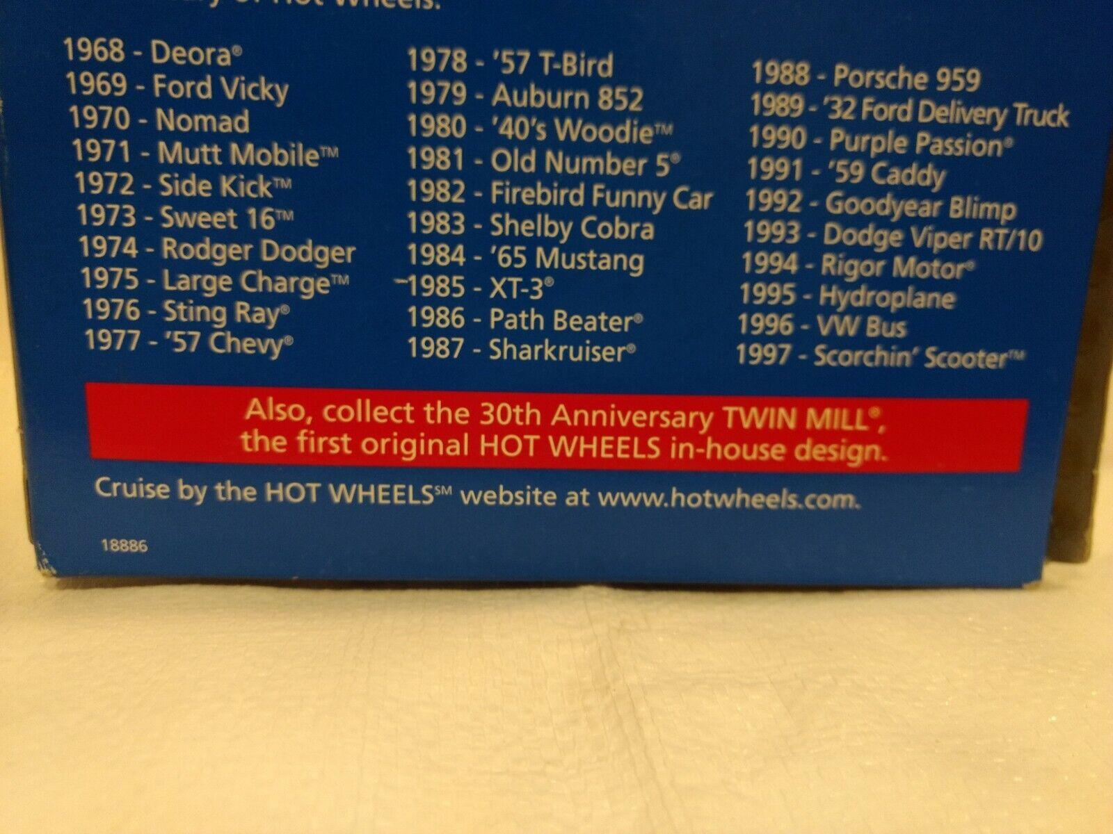Hot wheels 1997 commémorative réplique scorchin' scooter 1:64 echelle miniature