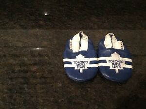 BABY LEATHER TORONTO MAPLE LEAFS SHOES
