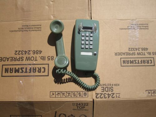 ITT-  MOSS GREEN 2554 MINI WALL  Telephone