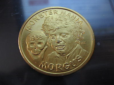 Morgus   Monster Mania Skull 1968 Mardi Gras Doubloon Coin New Orleans Vintage