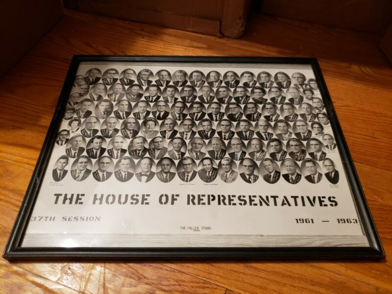 US House Of Representatives 37th Session 1961-1963 17.25x14 Framed Poster