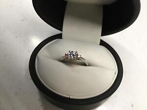 18k Rose & White Gold Trilogy Style Engagement Ring Banksia Grove Wanneroo Area Preview