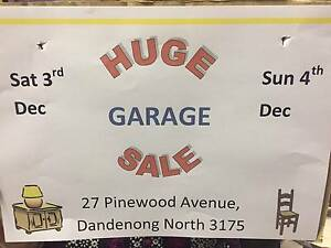GARAGE SALE Dandenong North Greater Dandenong Preview