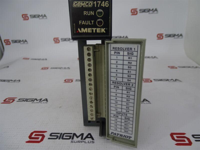 Gemco Ametek 1746R-2 Two Axis Resolver Interface Card
