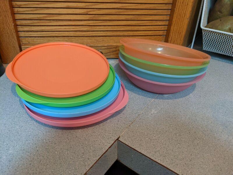 Tupperware Cereal/Salad Bowls W/ Lids