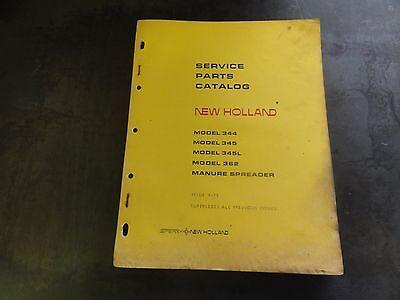 New Holland 344 345 345l 362 Manure Spreader Service Parts Catalog 9-73