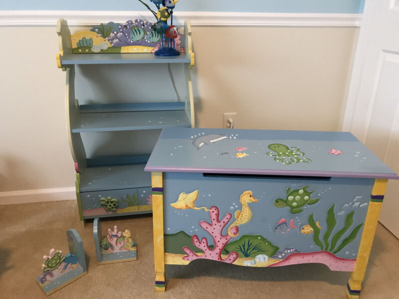 Fantasy Fields Under The Sea Nursery Furniture (Bookcase, Toy Chest & Bookends)