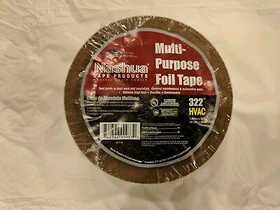 Nashua Multi Purpose Foil Tape 322 Hvac Duct Silver 1.89 X 50.3 Yards New