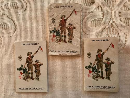 VINTAGE Lot (3) 1921-1931 BOY SCOUT Membership Tri-Fold Books Maple Shade, NJ