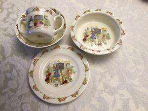 BUNNYKINS 4 pc SET by Royal Doulton
