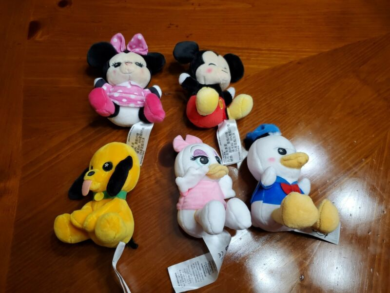 2020 Disney Parks Wishables MICKEY AND FRIENDS Complete Set of 5 Plush Toys NEW