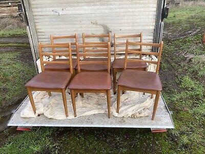 6 Teak Dining Chairs SCHREiBER