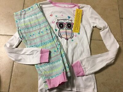 NWT The Children's Place Owl Long pajamas, Girls Size 14 (Girls Pajamas Size 14)