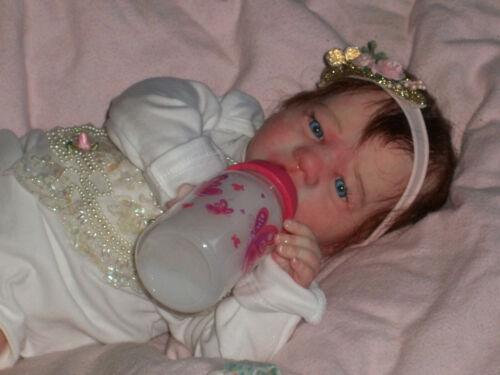 Reborn baby Blake awake now baby girl Madison by Bountiful Baby rooted humanhair