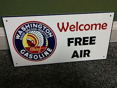 Washington FREE AIR Gas Oil Sign...FREE shipping on 10 - Washington Sign