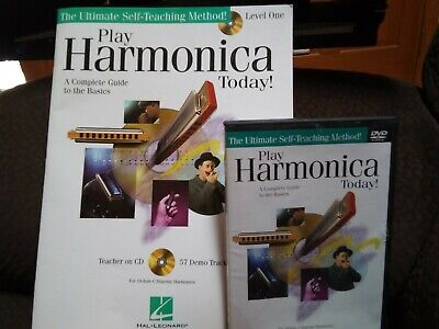 Play Harmonica Today Level 1 Instructional Book and Audio NEW 000700179