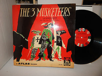 THE THREE 3 MUSKETEERS ROBERT HARDY ATLAS THEATRE & BOOKLET FRANCE DG SHELLAC LP