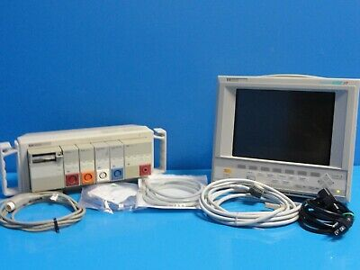 HP V24CT Critical Care Patient Monitoring System W/ NBP EKG & SpO2 Leads ~14572