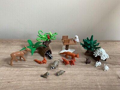 Playmobil Forest Wildlife Woodland Animals X17 + X3 Accessories In Ex Cond