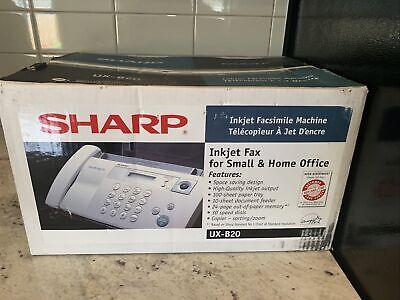 Sharp Plain Paper Inkjet Fax Machine Ux-b20 New