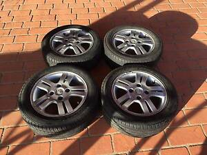 HOLDEN BARINA TYRES & MAG WHEELS, EXCELLENT CONDITION !!!!! Edensor Park Fairfield Area Preview
