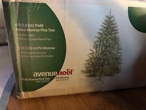 2 New 6' prelit clear lights Christmas trees
