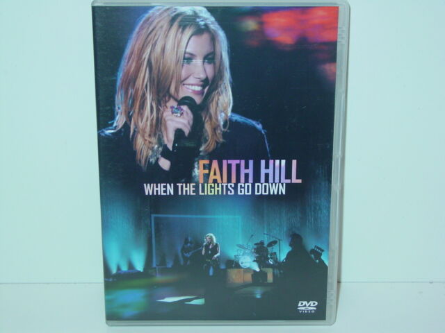 "*****DVD-FAITH HILL""WHEN THE LIGHTS GO DOWN""-2003 Warner Music Vision*****"