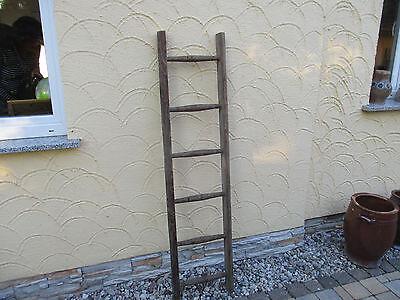 alte Holzleiter(106) Deco Blumenampel Baumleiter Handtuchhalter Kleiderhalter