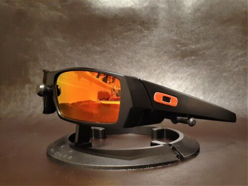 Oakley Gascan Matte Black POLARIZED w/Ruby Iridium Lenses & Team Red Icons