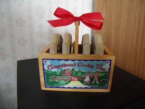 "BROWN BAG COOKIE ART STAMPING TILES ""GINGERBREAD COOKIE TILES"" NEW IN BOX"