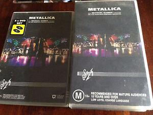 Metallica S&M DVD + Metallica S&M VHS rare Ascot Brisbane North East Preview