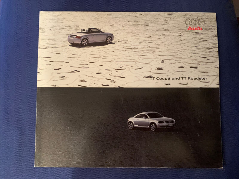 Audi TT Coupe und TT Roadster Brochure Original Very Good