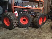 Skid steer tires and rims