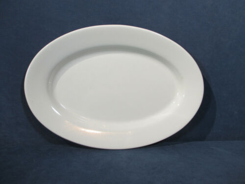Platter Buffalo China Restaurant Ware Vintage White Oval #4 Serving Plate 11""