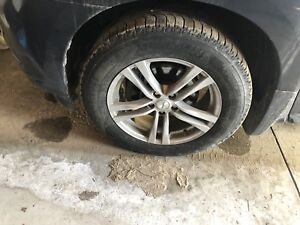 Winter tire package with aluminum rims for qx60 or pathfinder