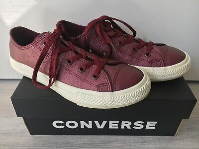 Converse Sneaker Gr. 34 Mädchen rot Glitzer Schuhe dark burgundy ()