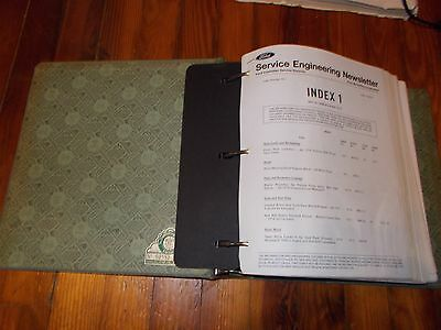 1972 1973 1974 FORD DEALER SERVICE ENGINEERING NEWSLETTERS SET LOT IN BINDER