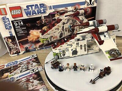 LEGO Star Wars Republic Attack Gunship 7676 - 100% Complete - Manuals & Stickers