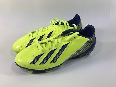 2394369e393e Adidas F10 TRX FG J Yellow   Blue Boy s Soccer Cleats Boots FG Studs Size  SZ 3.5