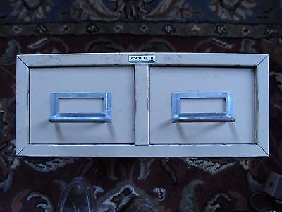 Cole 3 X 5 Index Card File Two-drawer Storage Unit