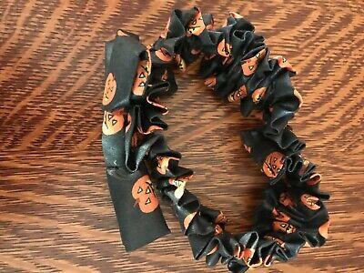 Longaberger 1997 Small Pumpkin Basket Garter - Boo Halloween Liner