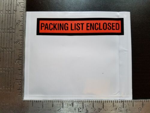 "100- 4.5 x 5.5 Packing List Envelopes 4 1/2 x 5 1/2"" Invoice Slip Enclosed Pouch"