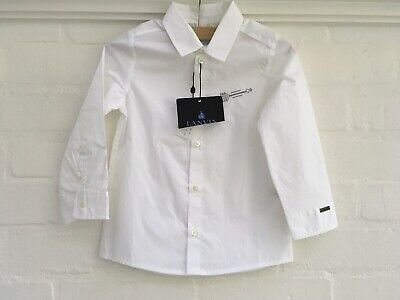 Lanvin Enfant Boys' White Casual Shirt Embroidered Arrow Size 24 month 2 years