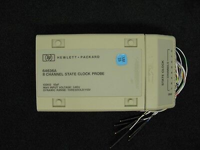 New Hewlett Packard Hp 64636a 8 Channel State Clock Probe For Model 64620s
